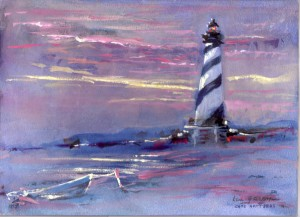 Lighthouses Hatt Sunrise