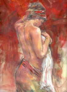 Lady with towel (figure)